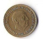 monedas de Europa - España -  01A - FRANCISCO FRANCO CAUDILLO DE ESPAÑA POR LA GRACIA DE DIOS 1966