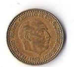 monedas de Europa - España -  03A - FRANCISCO FRANCO CAUDILLO DE ESPAÑA POR LA GRACIA DE DIOS 1963