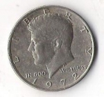 monedas de America - Estados Unidos -  01A- LIBERTY 1972 JOHN KENNEDY