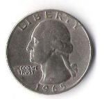 monedas de America - Estados Unidos -  02A - LIBERTY 1965 GEORGE WASHINGTON