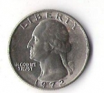 monedas de America - Estados Unidos -  03A - LIBERTY 1972 GEORGE WASHINGTON