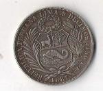monedas de America - Perú -  01B - FIRME Y FELIZ POR LA UNION 1887