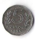 monedas de America - Argentina -  02B - REPUBLICA ARGENTINA 1964