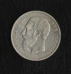 monedas de Europa - Bélgica -  Leopoldo II