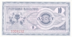 monedas de Europa - Macedonia -  BILLETE DE MACEDONIA