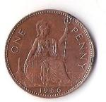 monedas de Europa - Reino Unido -  01A - GRAN BRETAÑA PENNY
