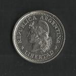 monedas de America - Argentina -  Libertad / variante de cuño.