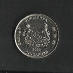 monedas de Asia - Singapur -  Escudo de Singapur.