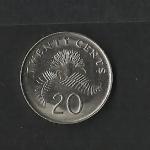 monedas de Asia - Singapur -  Planta / reverso.