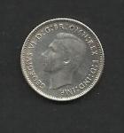 monedas de Oceania - Australia -  Jorge VI / anverso.