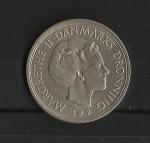 monedas de Europa - Dinamarca -  Margarita II / anverso.