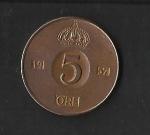 monedas de Europa - Suecia -  Gustavo AdolfoVI / reverso.