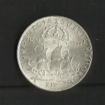monedas de Europa - Suecia -  Velero Delaware.
