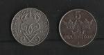 monedas de Europa - Suecia -  Segunda Guerra Mundial / Moneda de Escasez.