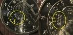 monedas de Europa - Eslovaquia -  Eslovaquia error exceso de metal