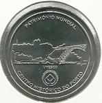 monedas de Europa - Portugal -  Centro histórico de Oporto-Reverso