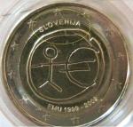 monedas de Europa - Eslovenia -  ESLOVENIA 2€ EMU Desplazada