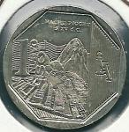 monedas de America - Perú -  Machu Picchu-Anverso