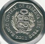 monedas de America - Perú -  Machu Picchu-Reverso