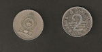 monedas de Asia - Sri Lanka -  2 rupias