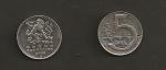 monedas de Europa - República Checa -  5 coronas checas
