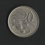 monedas de Oceania - Australia -  Elizabeth II / Reverso.