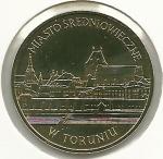 monedas de Europa - Polonia -  Ciudad medieval de Torun-Anverso