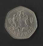 monedas de America - Barbados -  Pez volador./ anverso.