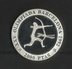 monedas de Europa - España -  Barcelona 92 / Arqueros. / reverso.