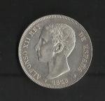 monedas de Europa - España -  Alfonso XII / anverso / 1876