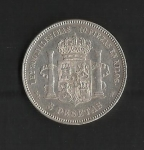 monedas de Europa - España -  Alfonso XII / reverso / 1876