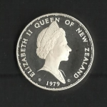 monedas de Oceania - Nueva Zelanda -  Elizabeth II / Anverso / 1979