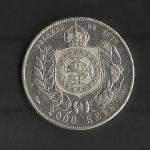 monedas de America - Brasil -  Pedro II / reverso./ 1888
