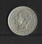 monedas de Europa - España -  Alfonso XII / anverso / 1882