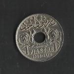 monedas de Asia - Líbano -  Piastra / Protectorado Frances / reverso