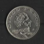 monedas de America - México -  Vicente Guerrero / anverso / 1976