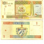 monedas de America - Cuba -  1 peso convertible