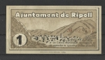 monedas de Europa - España -  Guerra Civil / Ripoll / reverso.
