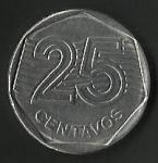 monedas de America - Brasil -  VEINTICINCO CENTAVOS BRASIL (FRONTAL)