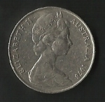 monedas de Oceania - Australia -  ELIZABETH II AUSTRALIA (POSTERIOR)