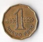 monedas de America - Uruguay -  ARTIGAS - NUEVO PESO URUGUAY (CARA FRONTAL)