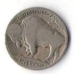 monedas de America - Estados Unidos -  BUFALO-INDIO - USA (CARA FRONTAL)