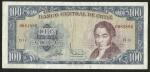 monedas de America - Chile -  CIEN ESCUDOS - BANCO CENTRAL DE CHILE ( FRONTAL)