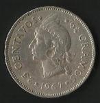 monedas de America - Rep Dominicana -  VEINTICINCO CENTAVOS  (CARA FRONTAL)