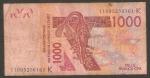 monedas de Africa - Senegal -  Máscara