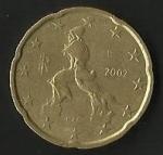 monedas de Europa - Italia -  EURO CENT - UMBERTO BERLUSCONI (POSTERIOR)