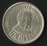 monedas de America - Perú -  GRAN ALMIRANTE MIGUEL GRAU ( FRONTAL)