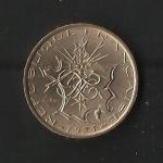 monedas de Europa - Francia -  Mapa / Anverso