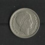 monedas de Europa - Francia -  Algeria / Ocupacion / Anverso.