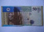 monedas de America - Colombia -  Bco.de la Rep.Cincuenta Mil-Casa y texto de la María de Jorge Isacs(Reverso)